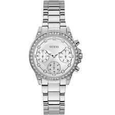 GUESS Women's 36mm Steel Bracelet & Case Quartz Silver-Tone Dial Watch W1293L1