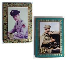 2x Elvis Metal Collectors Cards Classic Photographs and Commentary 65x90mm Cards