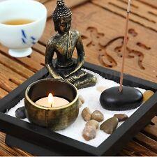 Zen Garden Sand Kit Buddha Tealight Holder Relax Spiritural Meditation Decor