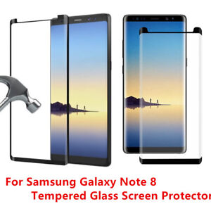 New For Samsung Galaxy Note 8 Tempered Glass Screen Protector Anti Scratch Lot