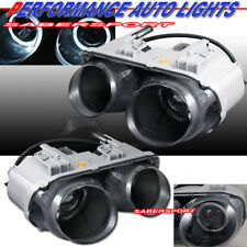 Black Housing Projector Headlights w/ Dual Halo Rims for 1994-1997 Integra