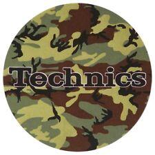 TECHNICS SLIPMATS ARMY CAMOUFLAGE coppia panni sottodisco per DJ giradischi NEW