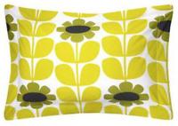 Orla Kiely Olive & Orange Tall Flower Bedding Duvet Set SUPER KING - NEW