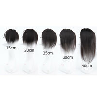 1Pcs Women Clip In Real Human Hair Top Topper Hairpiece Replacement Toupee Wigs