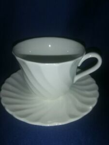 Wedgwood - Candlelight  -fluted  tea  cup and saucer