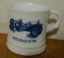 Stutz Bearcat 1914, Milk glass mug, Surrey, Made in USA