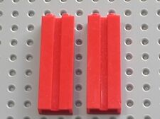 2 x LEGO red Brick with Groove Ref 88393 / Set 7939 7208