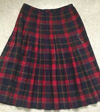 Aljean Skirt Pleated Plaid Virgin Wool Canada Carroll Reed Kilt Scottish Tartan