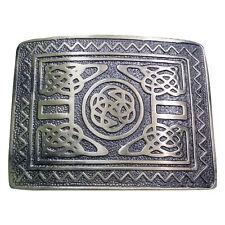 New H M Scottish Highland Swirl Celtic Design Kilt Belt Buckle Antique Finish