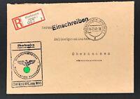 Dienstbr. Einschreiben Oberhausen Arbeitsdienst Meldeamt 1942 -Polizeipräsident
