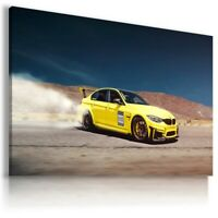 BMW M3 YELLOW Super Sport Car Large Wall Canvas Picture ART AU555 MATAGA