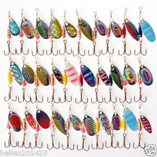 New Lot 30 Pcs Assorted Spoon Metal Fishing Lure Spinner Baits Spoon Crankbait