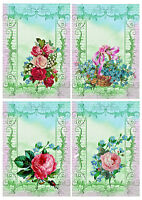 Card toppers Roses Victorian Card Making Scrap book embelishments craft supplies