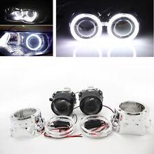 "2.5"" HID Bi-xenon Projector Lens LHD/RHD Headlight w/ Light Guide Angel Eye H1H4"