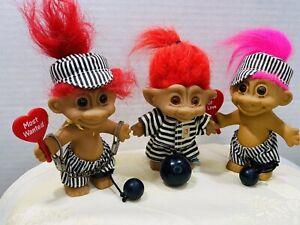 Troll Dolls Valentine Gift Prisoner of Love Ball & Chain Love Jail Bird Vintage
