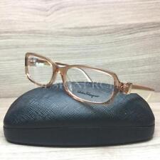Salvatore Ferragamo SF 2613 Eyeglasses Crystal Brown Ivory 210 Authentic 53mm