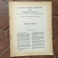 Procès-verbal Commission du Vieux Paris illustré séance de Février 1929