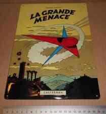 RARE plaque metal La Grande Menace BD Lefranc Jacques Martin Casterman ds Tintin