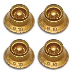 4 Pomelli Manopole Per Chitarra Elettrica Tipo Gibson Les Paul Sg Oro KSL-GD