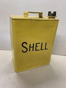 Shell Vintage Petrol Can Motor Spirit Oil Enamel Sign