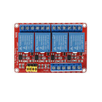 12V 4 Channel Relay High Low Level Optocoupler Board Module  +-