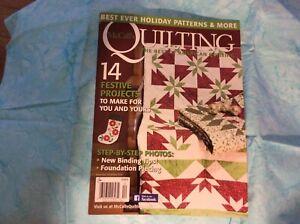 McCalls Quilting Magazine November December 2016