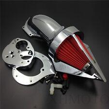 Chrome Triangle Air Cleaner Kits Intake For Kawasaki Vulcan 1500 1600 2000-2012
