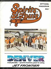 Oct 18 1974 St Louis Spirits/Sounds ABA Program + Stub 1st Ever Games for BOTH!