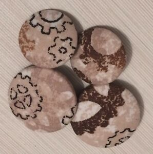 Steam Punk Fabric Buttons, 25mm & 31mm, Large & Extra Large