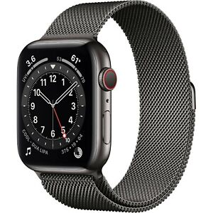 Apple Watch Series 6 Cellular Black Stainless 40mm Black Milanese - NEW & SEALED