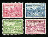 US Stamps VF 1940 Lot of 4 American Olympic Committee Labels