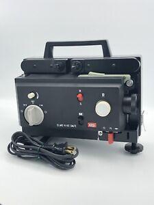 ELMO K-110 SM/E Dual 8 BI-Format Movie Projector 1 Reel Manual Case Tested!!