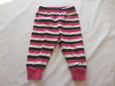 Gymboree Pink Black White Striped Gymmie Jammie PJ Pajama Bottoms, 6-12 mos.