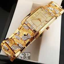 Elgin Men's Luxury Urban Style Iced Lab Diamonds Stainless Steel Hip Hop Watch