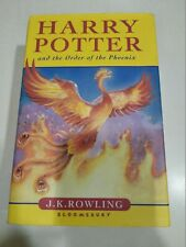 HARRY POTTER & The Order of Phoenix Hardcover UK Rare First Edition BOOK