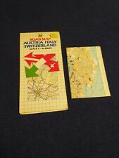 Road maps Austria Italy Switzerland AA vintage 1985 / 1987 venice collectable
