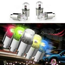 4x Universal MULTI-COLOR LED Wheel Tyre Tire Air Valve Stem Cap Light Lamp Bulbs