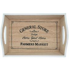 Small Beautiful Wooden Tray Farmers Market Vintage Style Christmas Gift