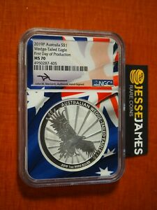 2019 $1 WEDGE TAILED SILVER EAGLE NGC NGC MS70 FIRST DAY PRODUCTION FDP MERCANTI
