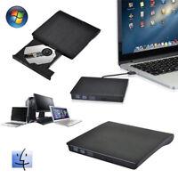 Slim Portable USB 2.0 Ultra External DVD-RW CD-RW Burner Writer Drive For PCYGD*