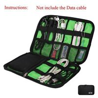 Universal Cable Organizer Electronics Accessories Case Various USB Phone Black