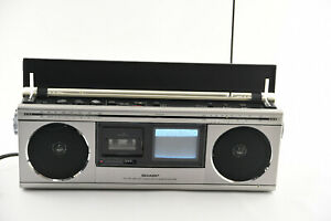SHARP TRIMATE 3000 TV FM/AM RADIO STEREO MICROCASSETTE RECORDER BOOMBOX 3T-40