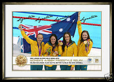 Australian 4x100 metres Relay Swim Team Hero Shot  Olympics Signed Photo Framed