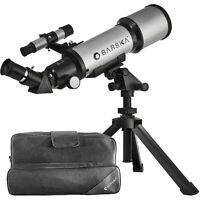 BARSKA Starwatcher 400x70mm Refractor Telescope w/Tabletop Tripod & Carrying Cas