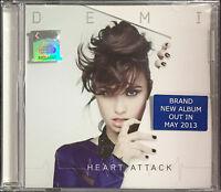 DEMI LOVATO Heart Attack MALAYSIA SINGLE CD + LIVE IN MALAYSIA LEAFLET RARE NEW