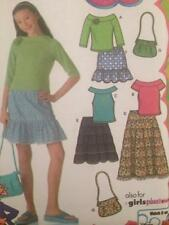 McCalls Sewing Pattern 4650 Girls Childs Purse Skirt Tops Size 8 1/2 - 16 1/2 UC