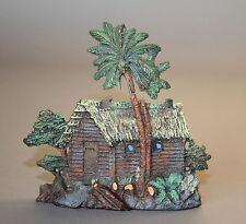 Elastolin Massefigur Blockhaus mit Palmen Wildwest 7,5 cm Masse Figuren # 444
