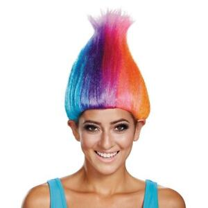 Trolls Movie Wig Crazy Fancy Dress Up Halloween Adult Costume Accessory 3 COLORS