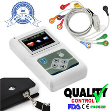 FDA&CE TLC5000 12-Channel Holter ECG/EKG Machine Sync Software Analyze System US