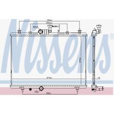 Kühler Motorkühlung - Nissens 637645